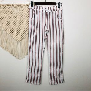 Topshop Striped Viscose Casual Pants Size 2